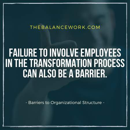 Barriers to Organizational Structure
