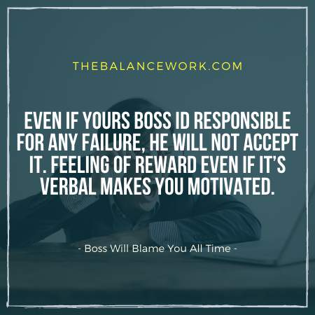 Boss Will Blame You All Time`