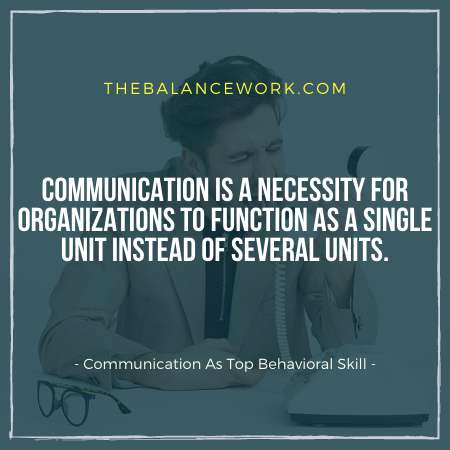 Communication As Top Behavioral Skill