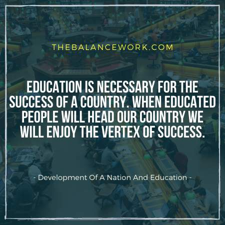 Development Of A Nation And Education