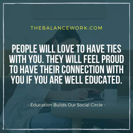 Education Builds Our Social Circle