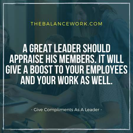 Give Compliments As A Leader