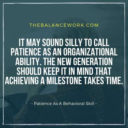 Patience As A Behavioral Skill