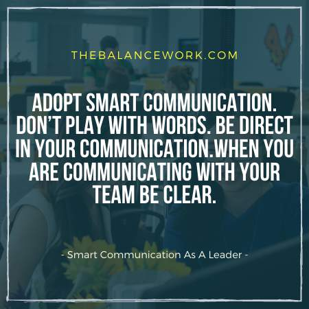 Smart Communication As A Leader