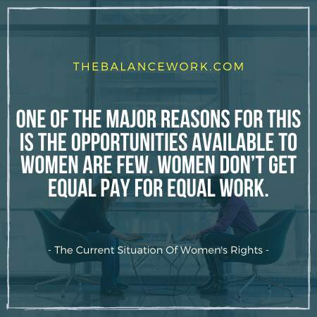 The Current Situation Of Women's Rights