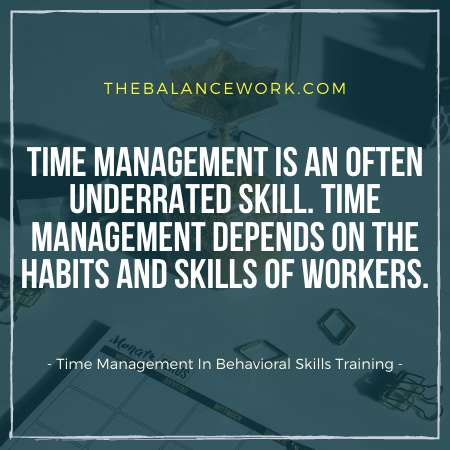 Time Management In Behavioral Skills Training