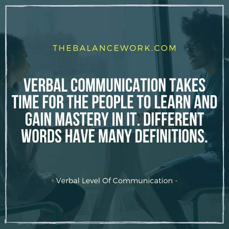 Verbal Level Of Communication