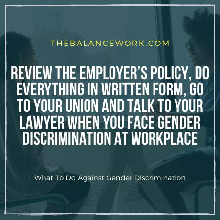 What To Do Against Gender Discrimination