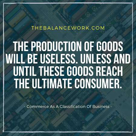 Commerce As A Classification Of Business