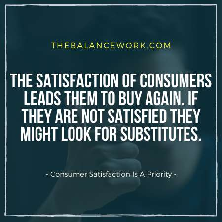 Consumer Satisfaction Is A Priority