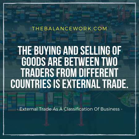 External Trade As A Classification Of Business
