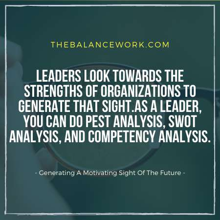 Leadership Generate A Motivating Sight Of The Future