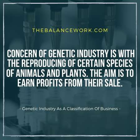 Genetic Industry As A Classification Of Business