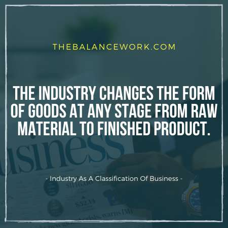 Industry As A Classification Of Business
