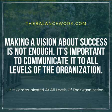Is It Communicated At All Levels Of The Organization