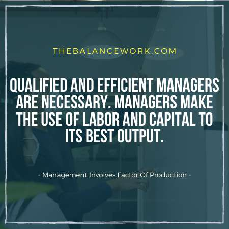 Management Involves Factor Of Production