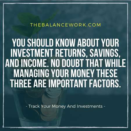 Track Your Money And Investments