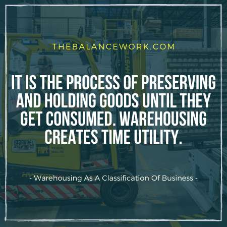 Warehousing As A Classification Of Business