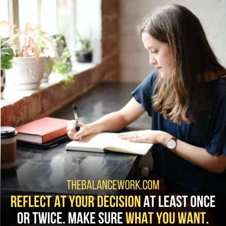 Reflect On Your Decision Once