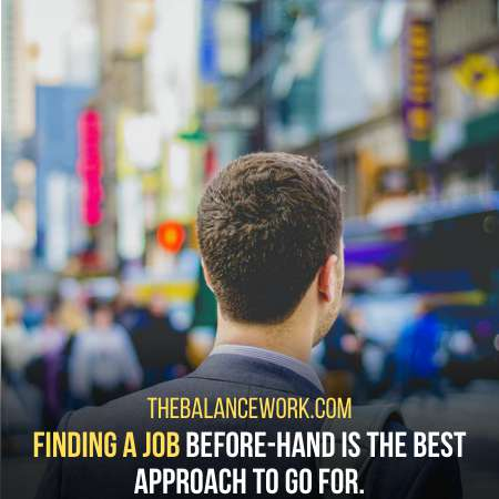 Find A Good Job Before Leaving The Current One