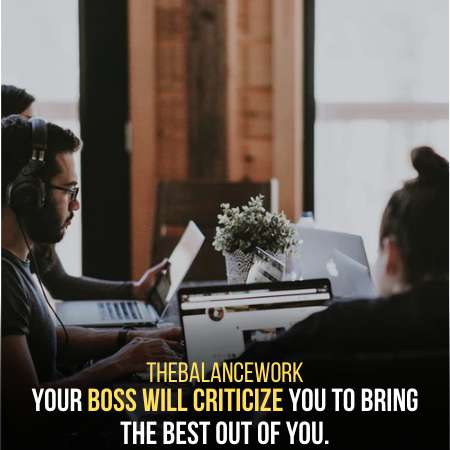 Constructive Criticism Is A Sign Your Boss Likes You