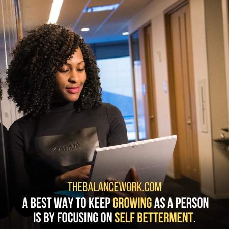 Focusing on your Personal betterment - One In For All Way