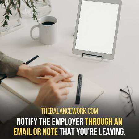 Leave A Note To Your Employer For Getting Out Of Work