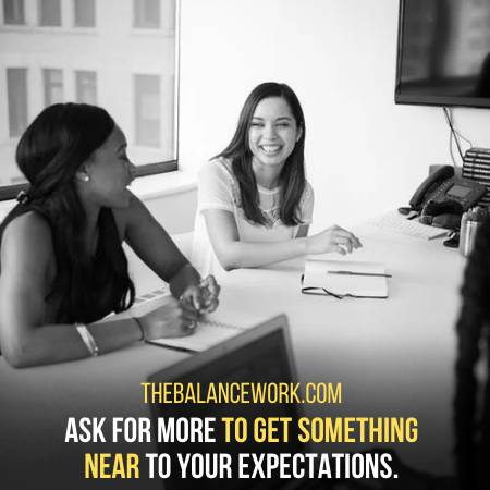 Ask For More Than What You Expect To Get