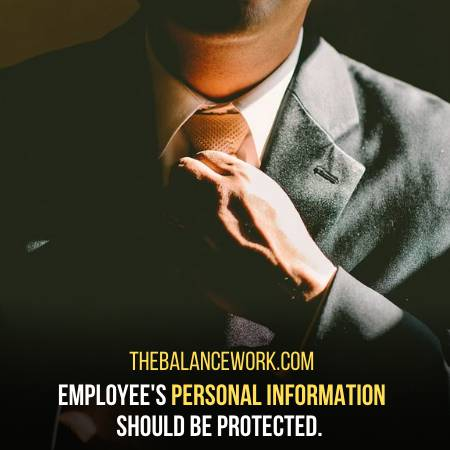 Employee Information Should Be Protected