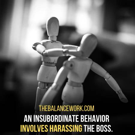 Insubordination Is To Harass Or Threat The Manager