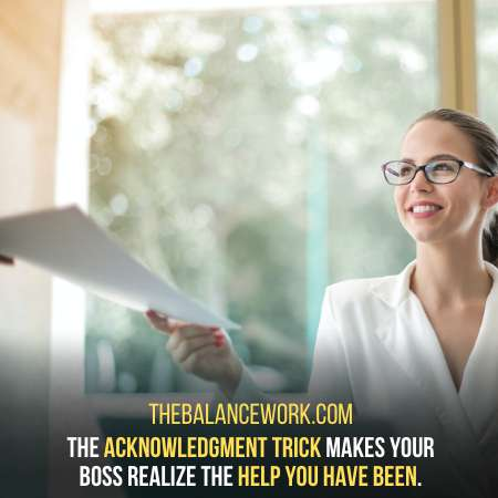 Listing Your Achievements To your Boss - The AcknowledgmentTrick