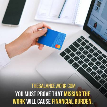 Prove That You Cannot Afford To Miss Work