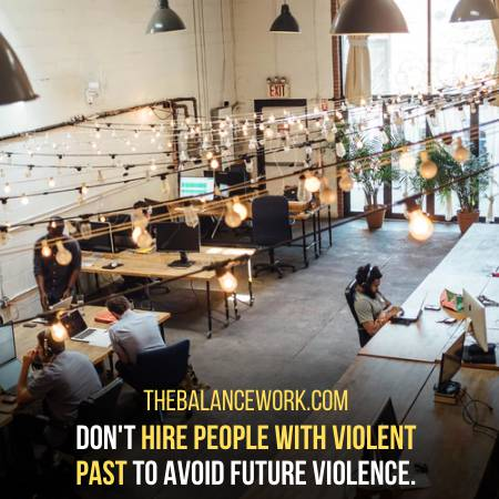 Determine If Any New Hire Has A Violent Past