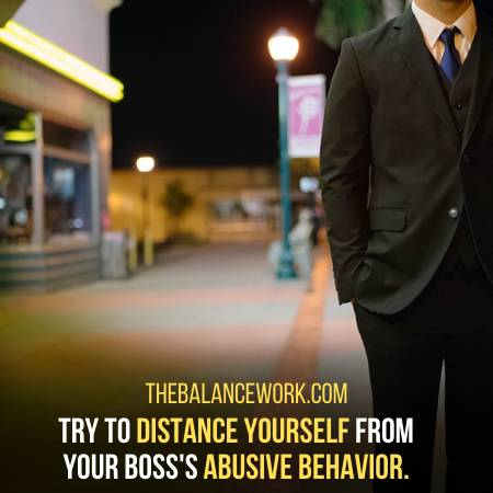 Deal With Your Abusive Boss By Keeping Space