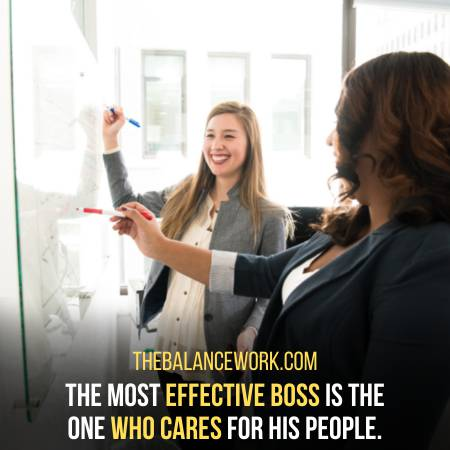 A Good Boss Is The One Who Cares