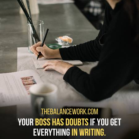 Your Boss Writes Everything For You