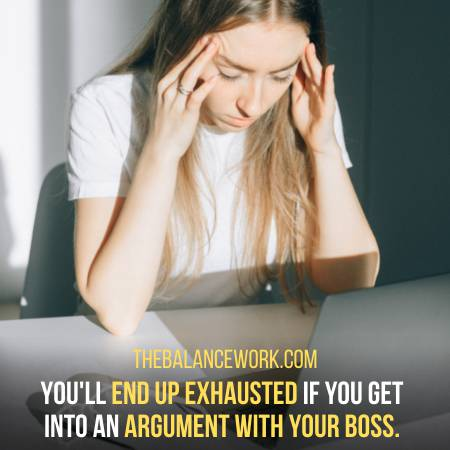 Avoid Arguing With Your Power Seeker Boss