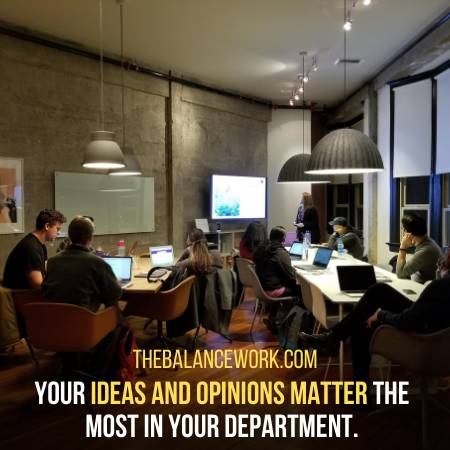 You Get To Speak Your Ideas In Meetings