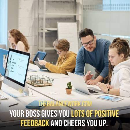 Your Boss Gives You Positive Feedback For Everything